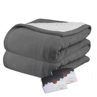 Biddeford MicroPlush Sherpa Electric Heated Warming Blanket Twin Full Queen King