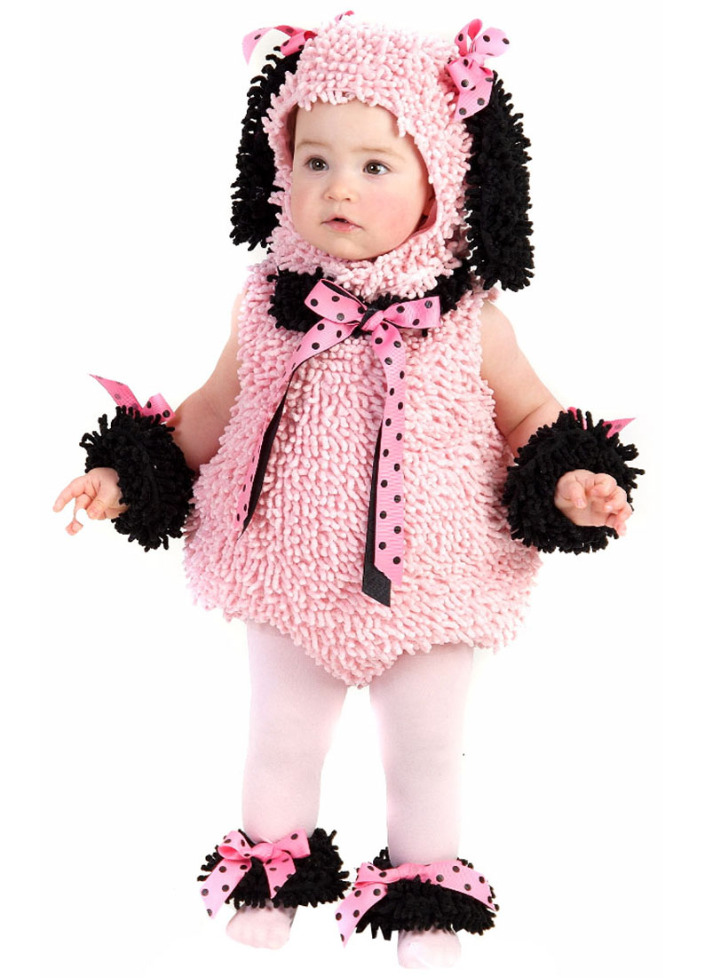 pink poodle girls' toddler halloween costume - walmart