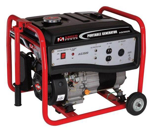 Click here to buy Amico AG Series 3000 Watt Gasoline Generator by Overstock.