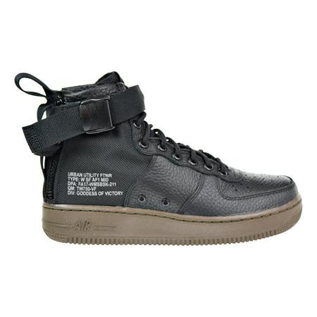 Nike SF Air Force 1 Mid Women's Running Shoes Black/Black-Dark Hazel AA3966-003 Nike Air Force 1 Jordans