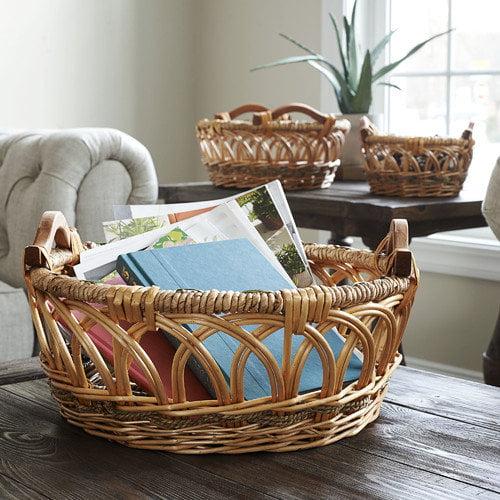 Household Essentials Robin 3 Piece Decorative Basket Set