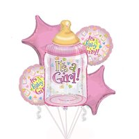 Baby Girl Bouquet of Balloons (5 Per Package) Pkg/1
