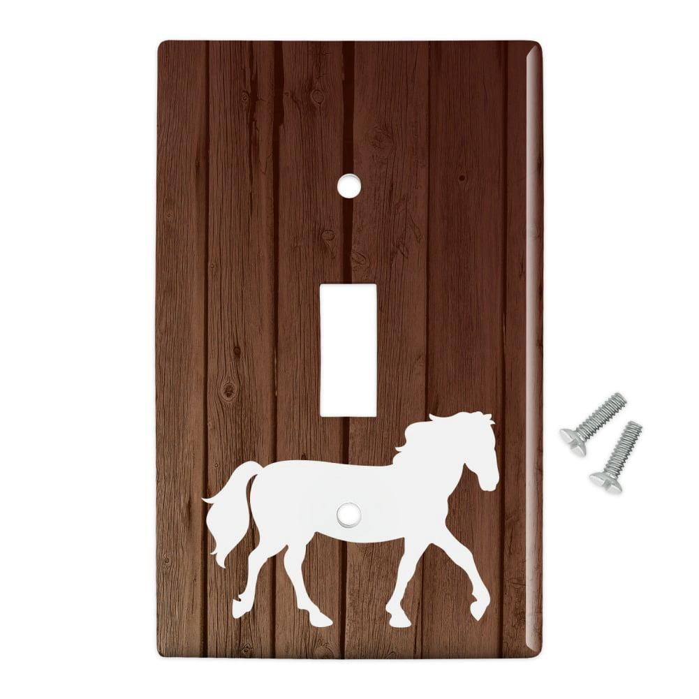 Horse Silhouette Cowboy Western Plastic Wall Decor Toggle Light Switch Plate Cover Walmart Com Walmart Com