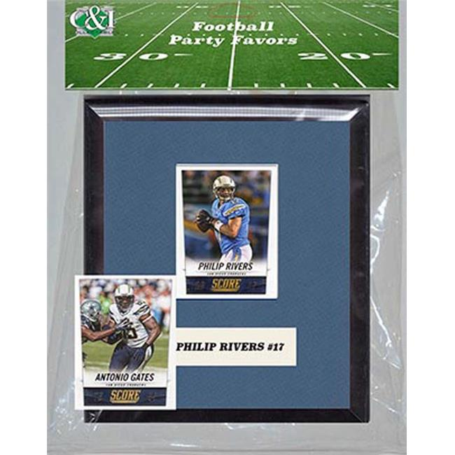 Candlcollectables 67LBCHARGERS NFL San Diego Chargers Party Favor With 6 x 7 Mat and Frame