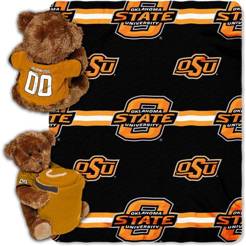 NCAA Oklahoma State Cowboys Mascot Bear Throw/Pillow Combo