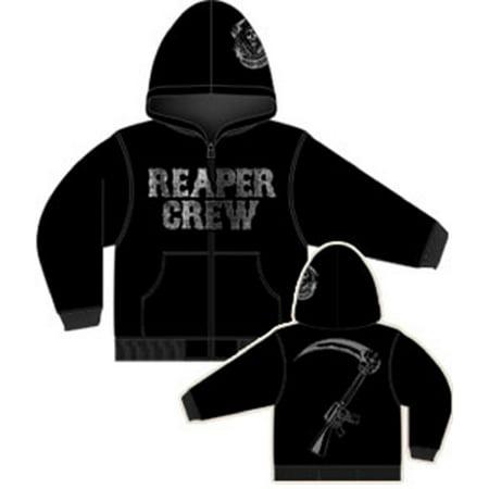 Sons of Anarchy Reaper Crew Adult Zip Up Hoodie Sweatshirt