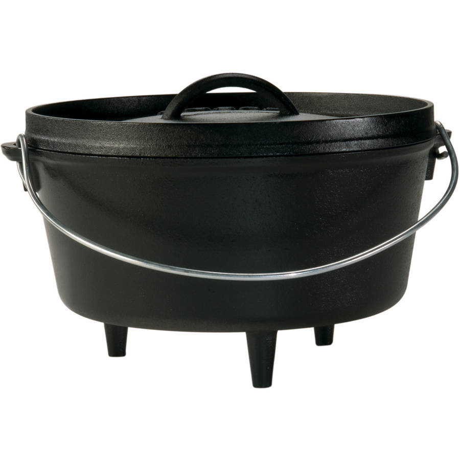 Lodge Logic 5-Quart Cast Iron Deep Camp Dutch Oven