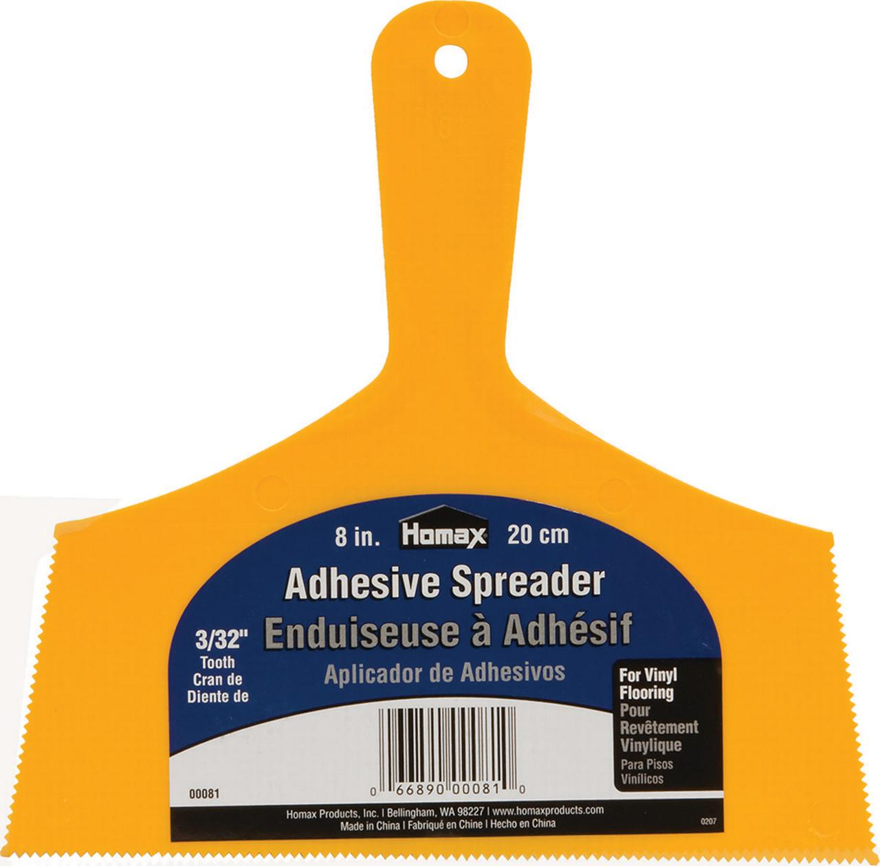 "Homax  Adhesive Spreader, 8 inch. 3/32"" Tooth"