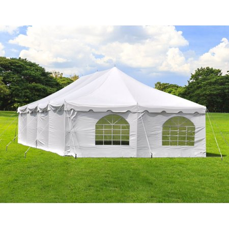 Party Tents Direct 20' x 40' Wedding Event Pole Canopy Tent with Side Walls