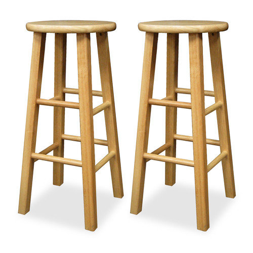 Winsome Wood 29 Inch Square Leg Bar Stool Set Of 2