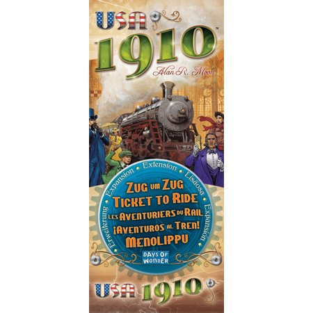 Classic Strategy Game (Ticket to Ride: USA 1910 Expansion Strategy Game)