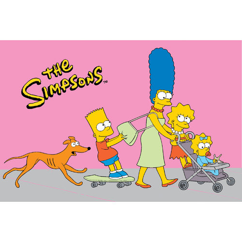 Fun Rugs The Simpsons Walk N' Roll Pink Kids Rug