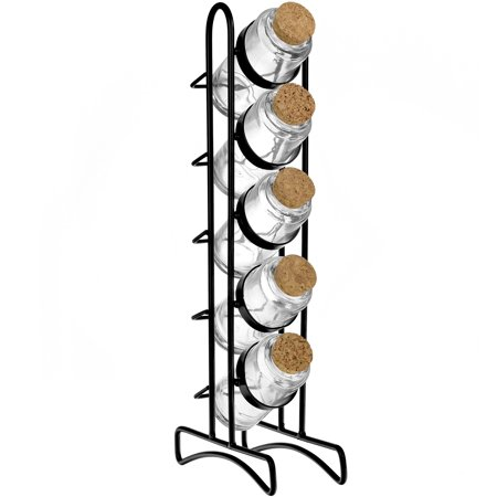 67843055447c Couronne Co Vertical Metal Spice Rack with Round Bottles, M220-6176 ...