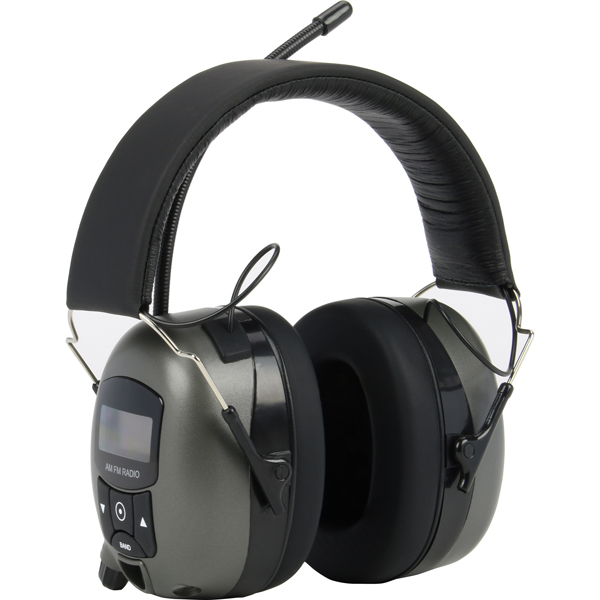 Safety Works DIGITAL EAR MUFF with MP3 & AM/FM STERO, Gray