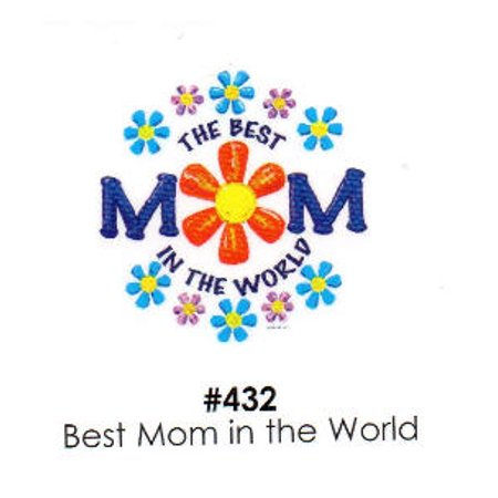 Best Mom in the World Cake Decoration Edible Frosting Photo (Best Bed In The World)