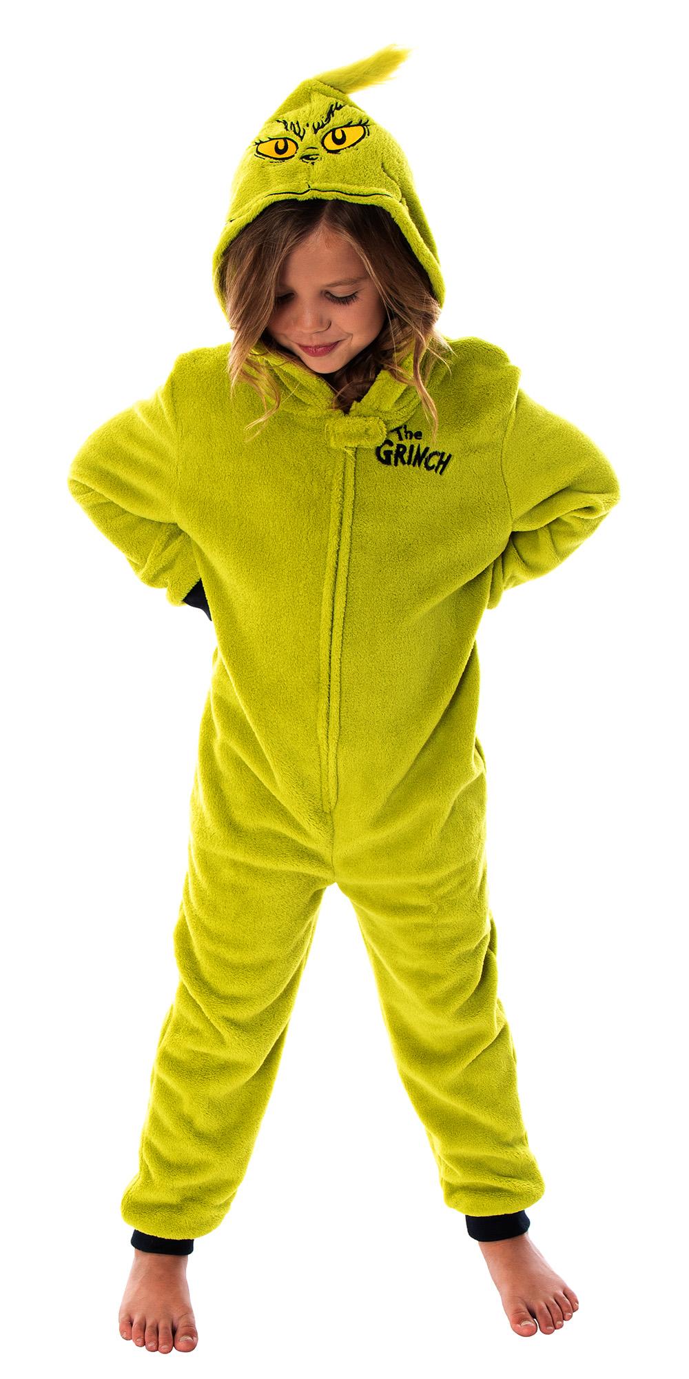 The Grinch One Piece Romper Suit 3D Children/'s Loungewear Pyjamas