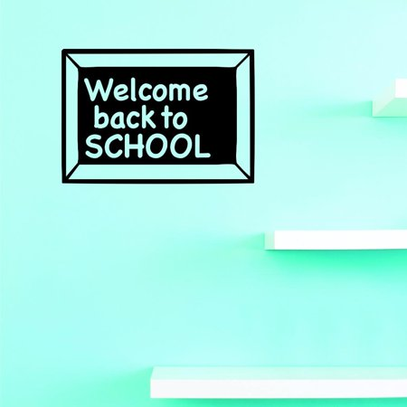 Custom Decals Welcome Back To School Wall Art Size: 10 X 20 Inches Color: Black