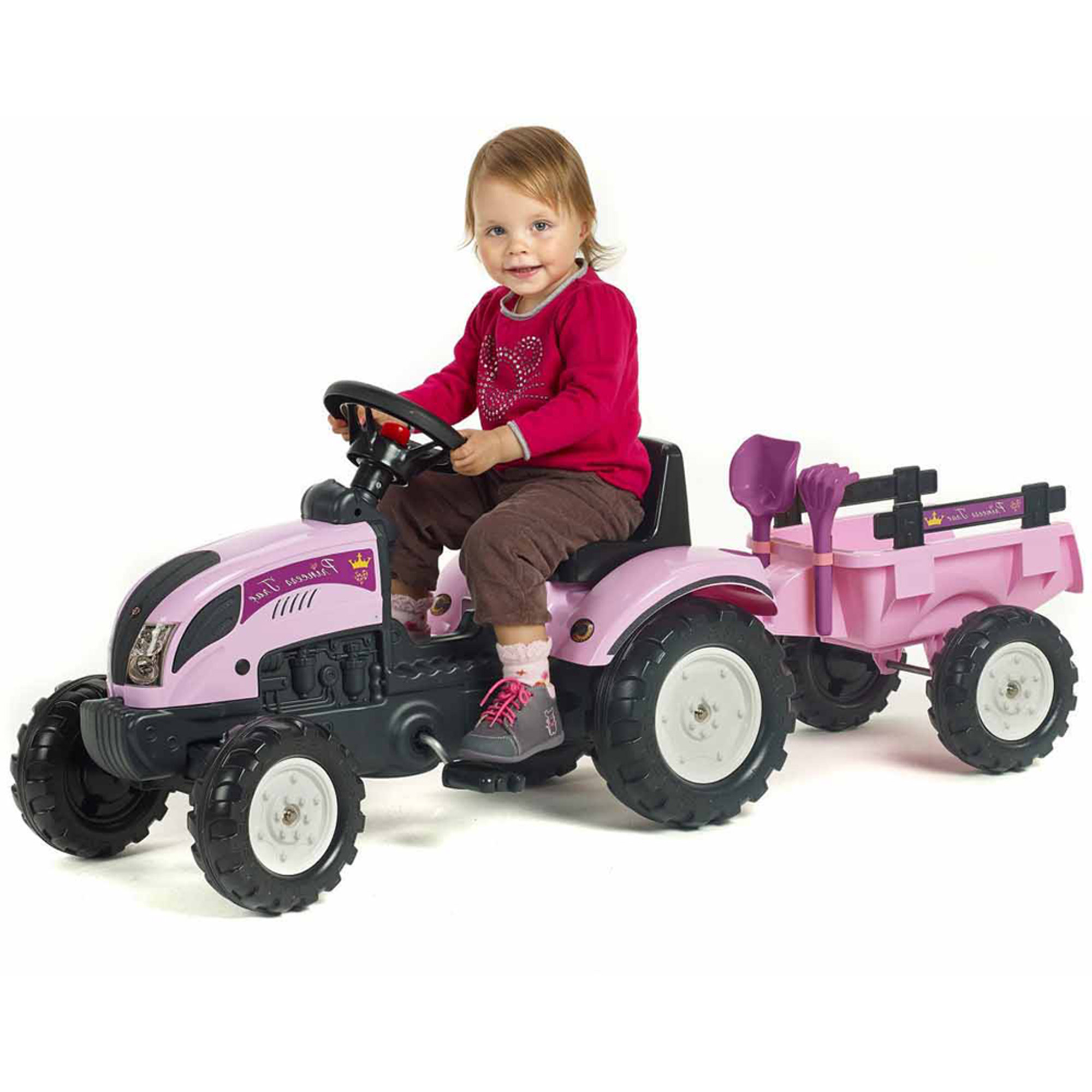 Falk Ranch Trac with Trailer, Pink
