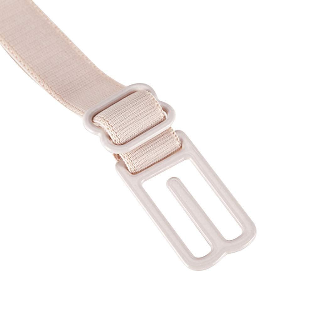 White Seroda 4 Pieces Non-Slip Bra Straps Elastic Adjustable Bra Strap Holder