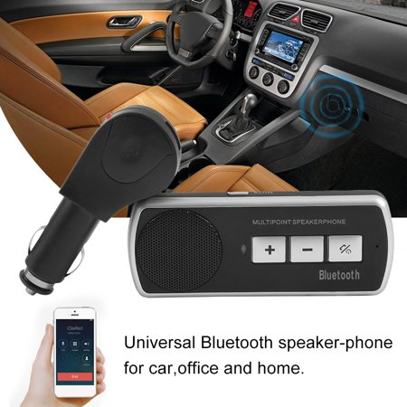 Bluetooth 3 0 Car Kit Wireless Handsfree Speaker Phone Visor Mp3 For Iphoneon Sale
