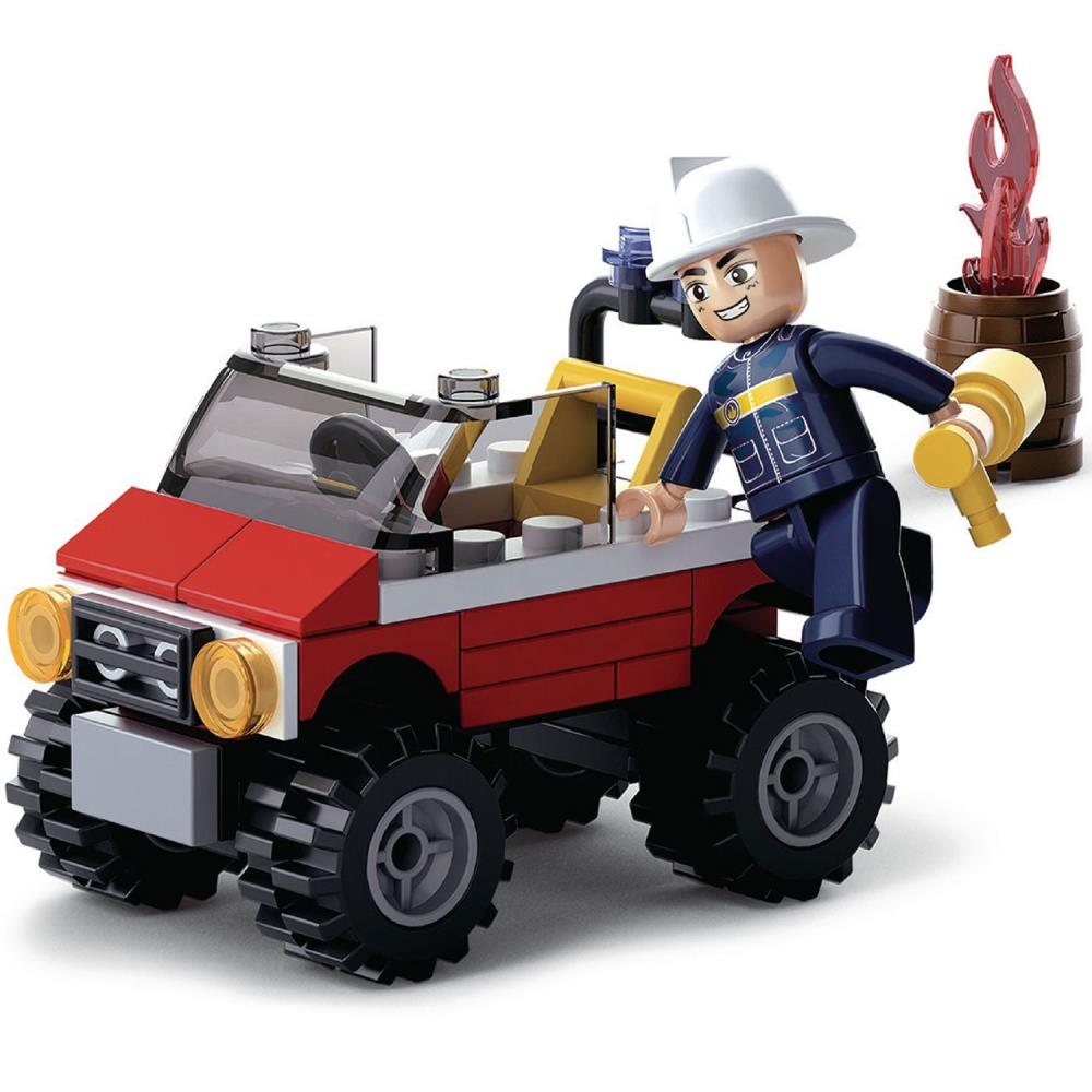 SlubanKids Creative Building Blocks Set Car Club Sets Imaginative Indoor Games Toys for Kids Car Club Blue Offroad Vehicle