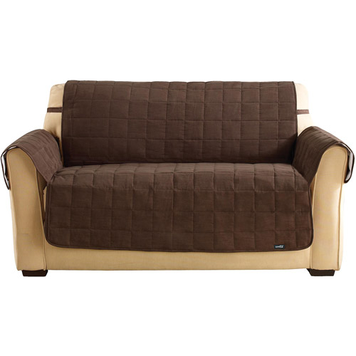 Sure Fit soft suede waterproof - loveseat slipcover - cho...