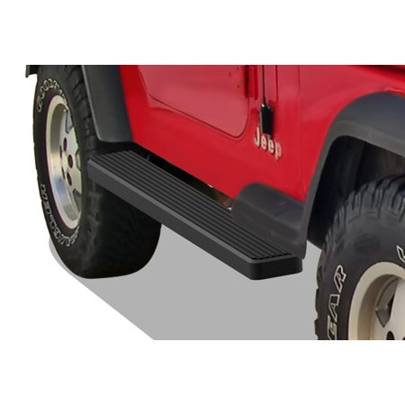 1987-2006 Jeep Wrangler Black Finish 6 Inch Door to Door Side Bar Side Step Running Board