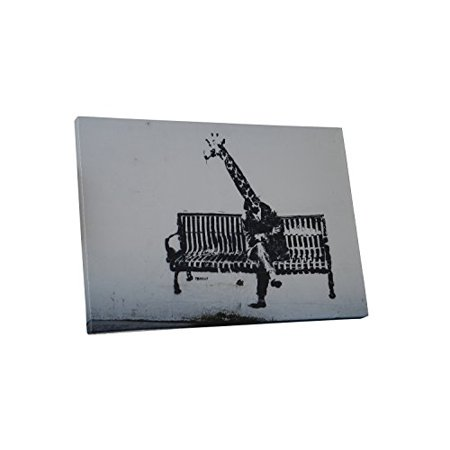 """""""Banksy Business Giraffe"""" Gallery Wrapped Canvas Print, 20"""" x 16"""""""