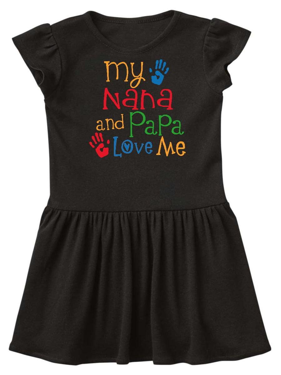 Nana And Papa Love Me Grandchild Toddler Dress