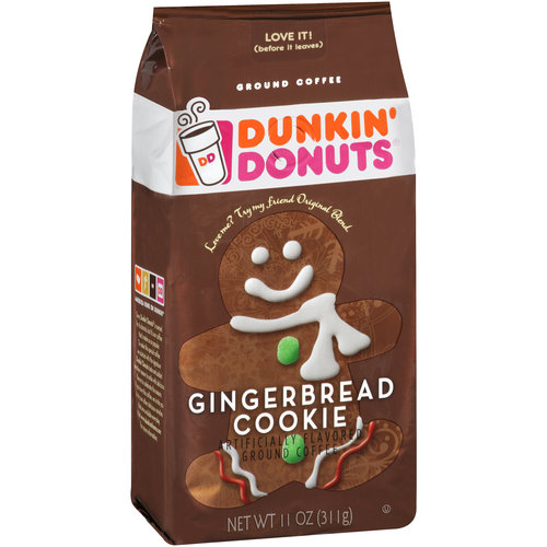 Dunkin' Donuts Gingerbread Cookie Ground Coffee, 11 oz