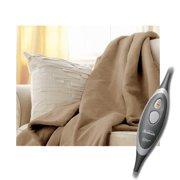 Sunbeam Microplush Electric Heated Throw Blanket in Mushroom EliteStyle Control