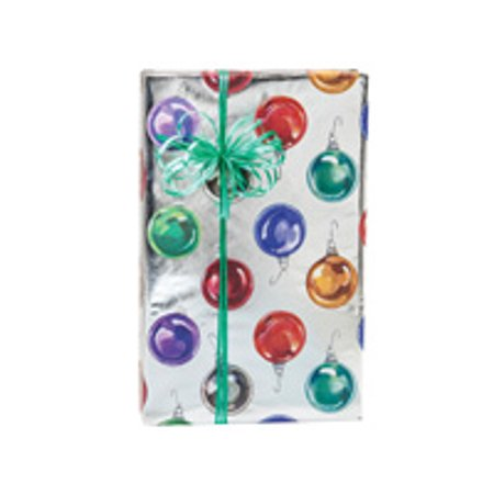 - Foil Green ad Red Bright Ornament Holiday /Christmas Holiday /Christmas Gift Wrapping Paper 16ft
