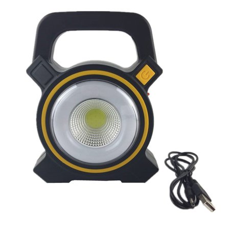 Solar Portable Rechargeable Emergency Searchlight LED Camping Light Outdoor Work Spot Lamp