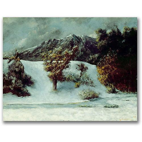 "Trademark Fine Art ""Winter Landscape"" Canvas Wall Art by Gustave Courbet"
