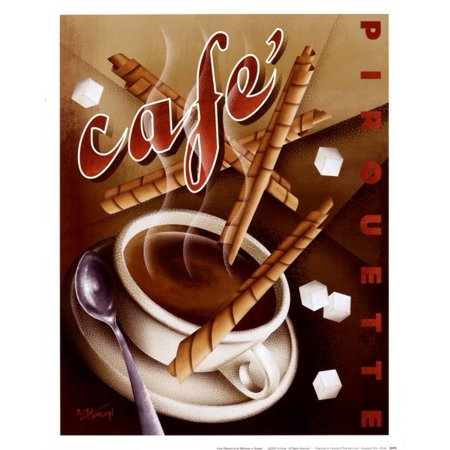 Michael Kungl Cafe (Cafe Pirouette Art Print  By Michael L.)