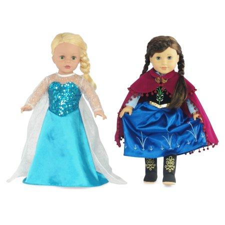 Anna And Elsa Diy Costumes (Fits 18