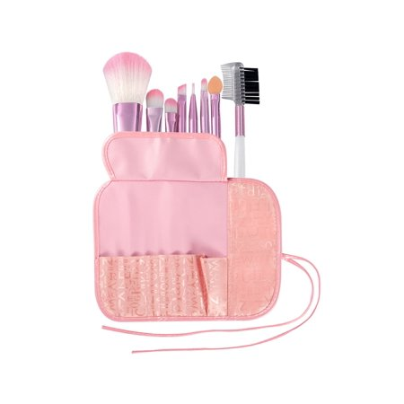 Zodaca 8 pcs Makeup Brushes Kit Set Powder Foundation Eye shadow Eyeliner Lip with Pink Cosmetic Pouch