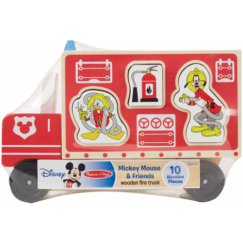 Disney Baby Disney Mickey Mouse and Friends Wooden Fire Truck by Generic