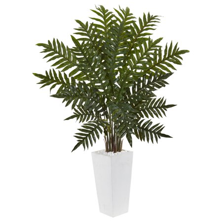 4.5 Evergreen Plant in White Tower - Evergreen Blend