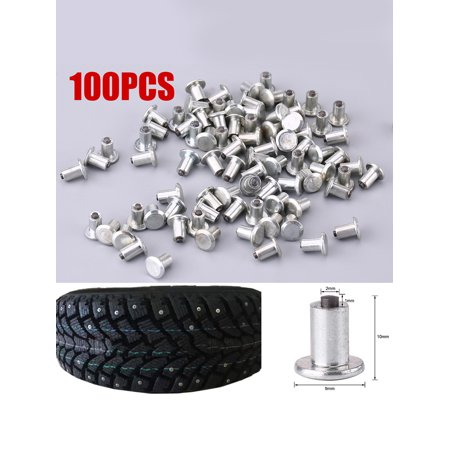 Tire Spikes, 100pcs 9mm/0.35