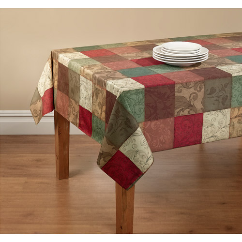 Mainstays Tuscany Tablecloth with Table Protector