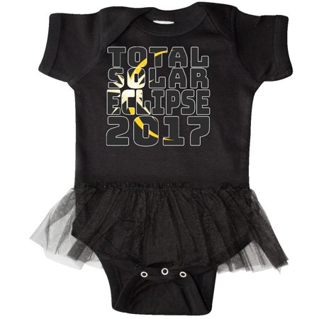 Inktastic Total Solar Eclipse 2017 Infant Tutu Bodysuit Space Bright 8 21 2017