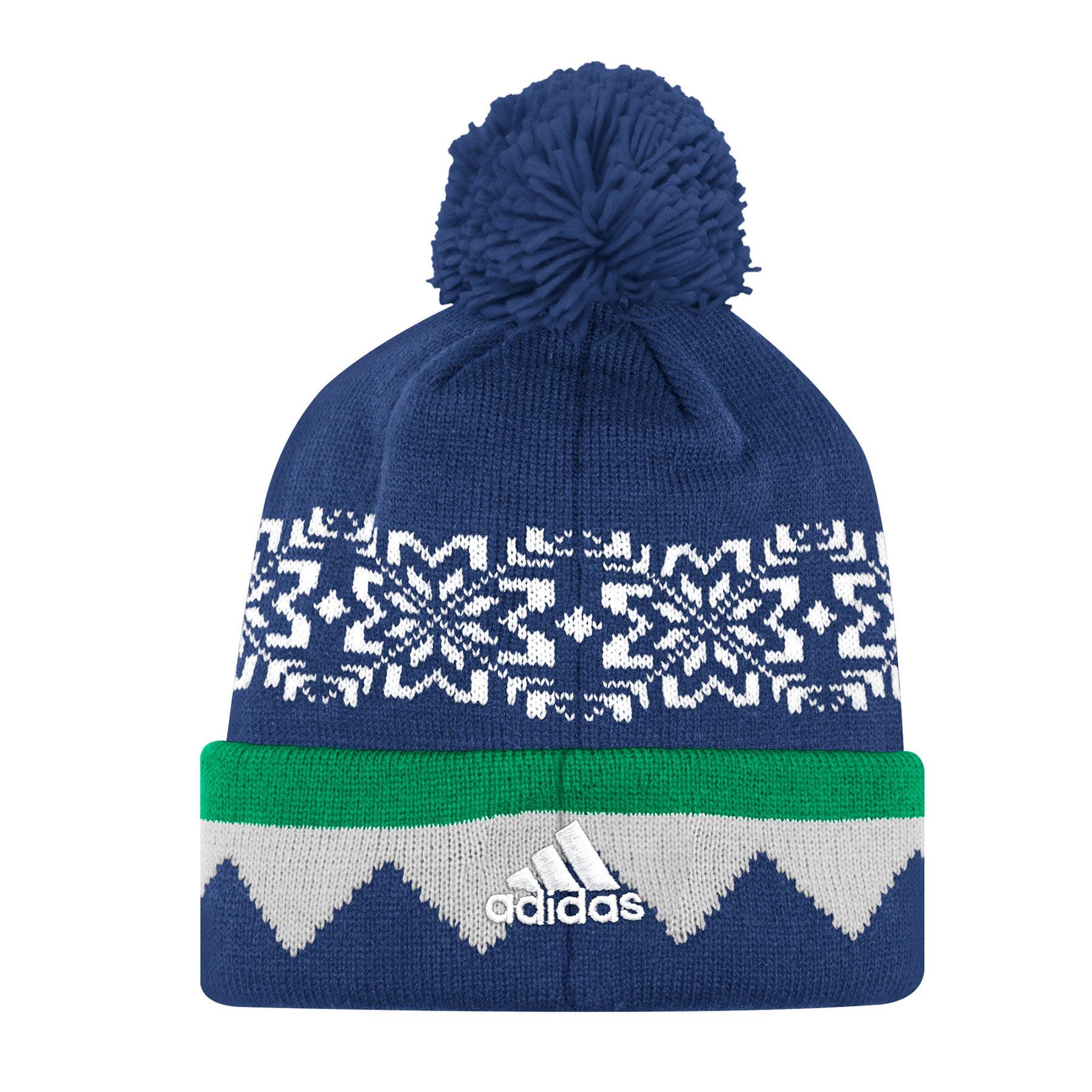 Vancouver Canucks Adidas NHL Snowflake Cuffed Pom Knit Hat e1cd873e759