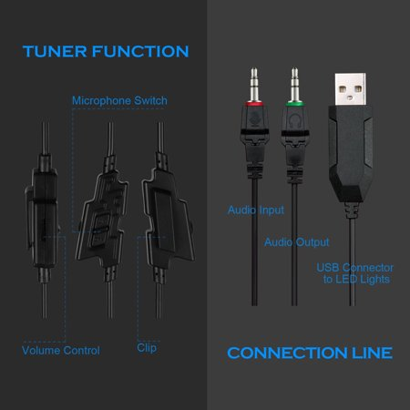 sades r9 pc gaming headsets 3 5mm wired earphone over ear game headphone  with microphone led
