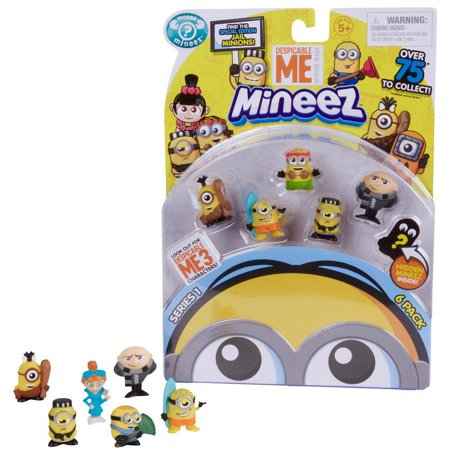 Moose Toy - NEW! Despicable Me Mineez SERIES 1 - Deluxe Character 6pk - Collect, Squish and Swap all your Favorite Characters from Despicable Me!, By Moose Toys