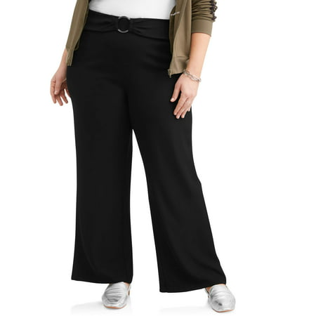 (New Look Sport Junior's Plus Solid O-Ring Wide Leg Pants)