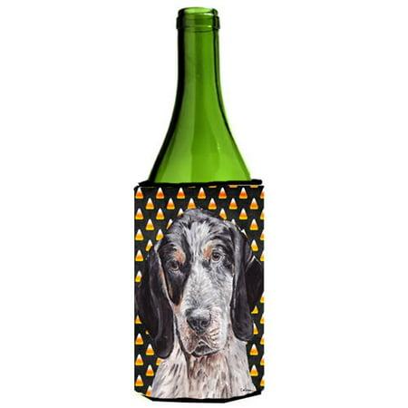 Blue Tick Coonhound Candy Corn Halloween Wine bottle sleeve Hugger  24 Oz. - image 1 de 1