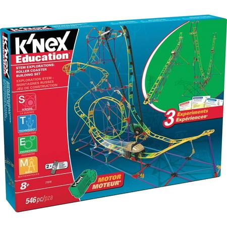 Knex Education   Stem Explorations  Roller Coaster Building Set   546 Pieces   Ages 8 Construction Education Toy