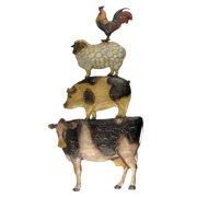 Barn Yard Farm Animals Sign Cow/Pig/Hog/Rooster Rustic Primitive Home Wall Decor