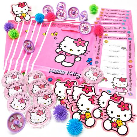 Amscan Hello Kitty Party Favors Value Pack, 48-Piece](Hello Kitty Birthday Stuff)